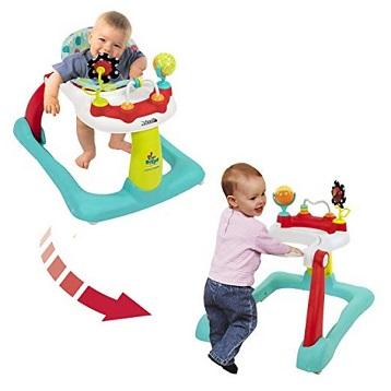 Kolcraft-Tiny-Steps-2-in-1-Activity-Toddler-and-Baby-Walker-Seated-or-Walk-Behind-Position-Easy-to-Fold-Adjustable-Seat-Height-Fun-Toys-and-Activities-for-Baby-Girl-or-boy-Jubliee